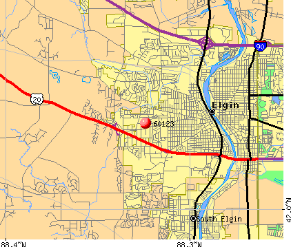 Elgin, IL (60123) map