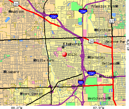 Elmhurst, IL (60126) map