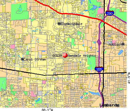 Glendale Heights, IL (60139) map