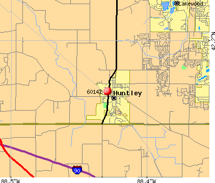Huntley, IL (60142) map