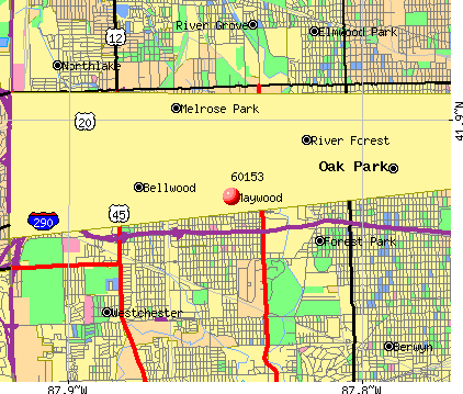 Maywood, IL (60153) map