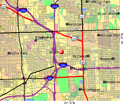 Berkeley, IL (60163) map
