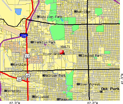 River Grove, IL (60171) map