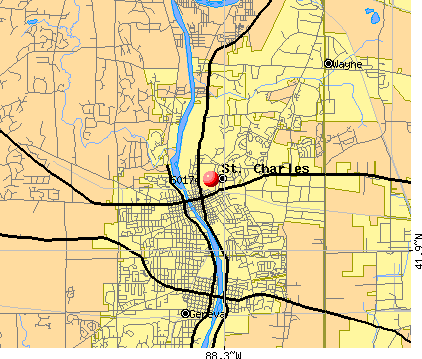 St. Charles, IL (60174) map