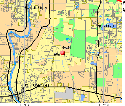 Wayne, IL (60184) map