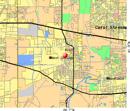 West Chicago, IL (60185) map