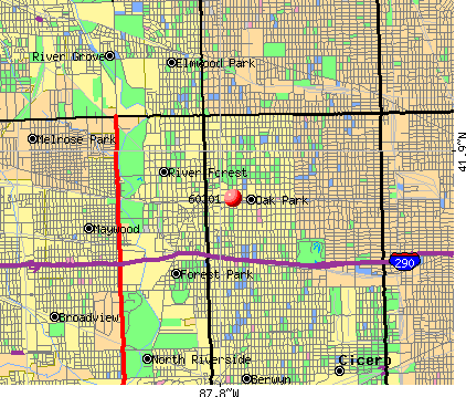 Oak Park, IL (60301) map