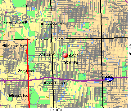 Oak Park, IL (60302) map