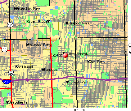 River Forest, IL (60305) map