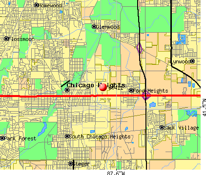 Chicago Heights, IL (60411) map