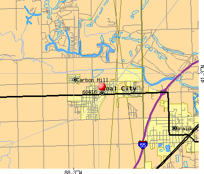 Coal City, IL (60416) map