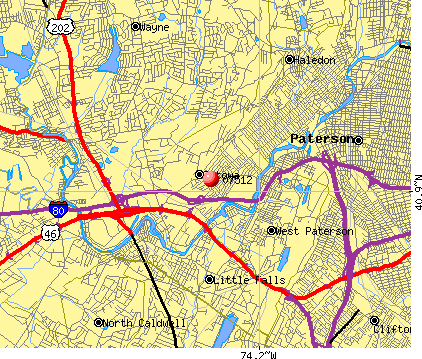 Totowa, NJ (07512) map