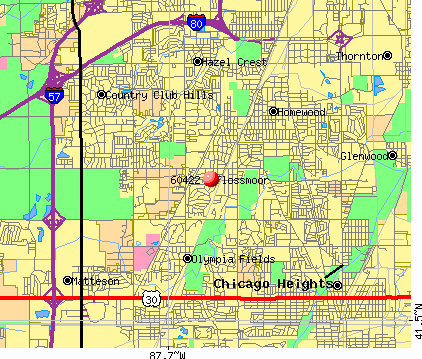 Flossmoor, IL (60422) map