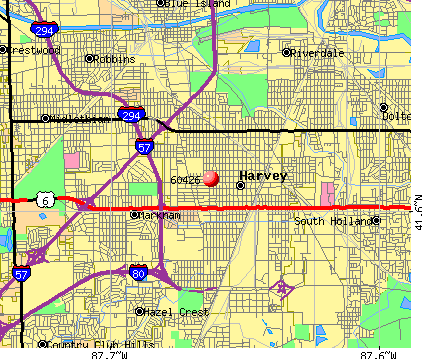 Harvey, IL (60426) map