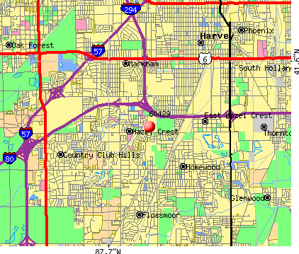 Hazel Crest, IL (60429) map