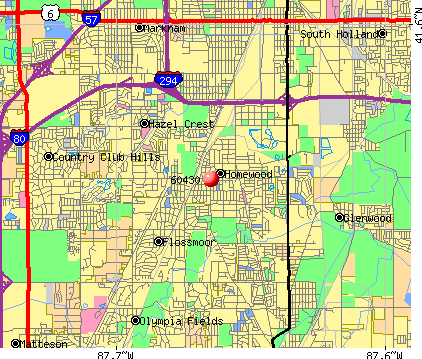 Homewood, IL (60430) map