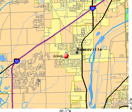 Romeoville, IL (60446) map