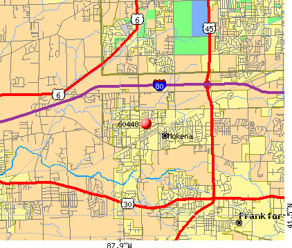 Mokena, IL (60448) map