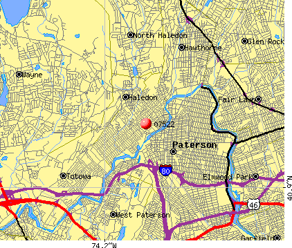 Paterson, NJ (07522) map