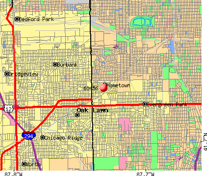 Hometown, IL (60456) map