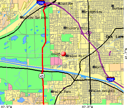 Palos Hills, IL (60465) map