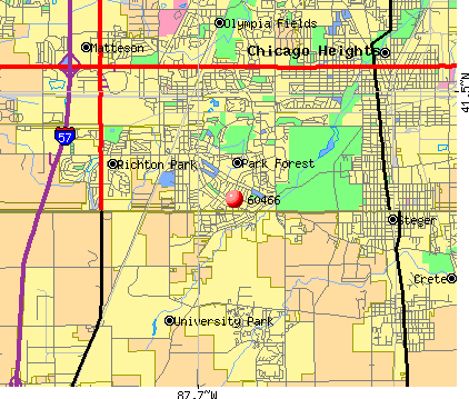 Park Forest, IL (60466) map