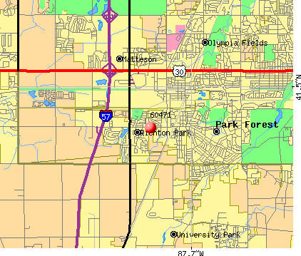 Richton Park, IL (60471) map