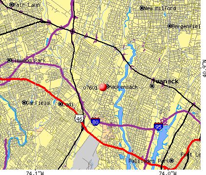 Hackensack, NJ (07601) map
