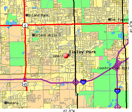 Tinley Park, IL (60477) map