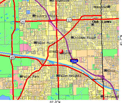 Worth, IL (60482) map