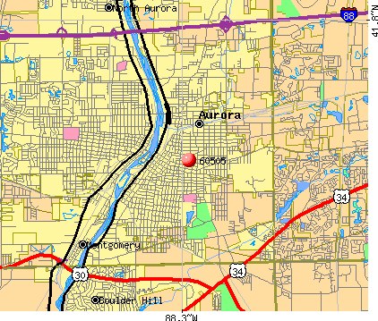 Aurora, IL (60505) map