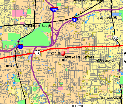 Downers Grove, IL (60515) map