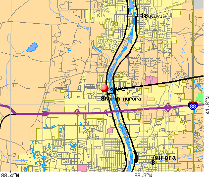 North Aurora, IL (60542) map