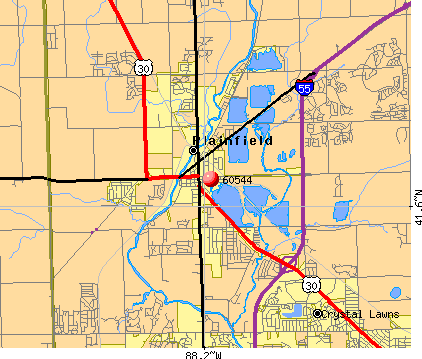 Plainfield, IL (60544) map