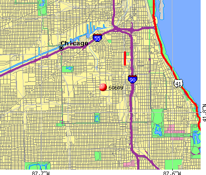 Chicago, IL (60609) map