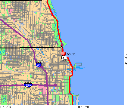 Chicago, IL (60611) map