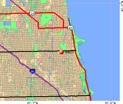 Chicago, IL (60613) map