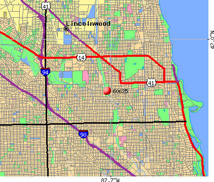 Chicago, IL (60625) map