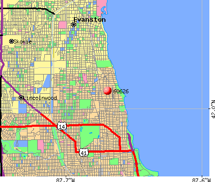 Chicago, IL (60626) map