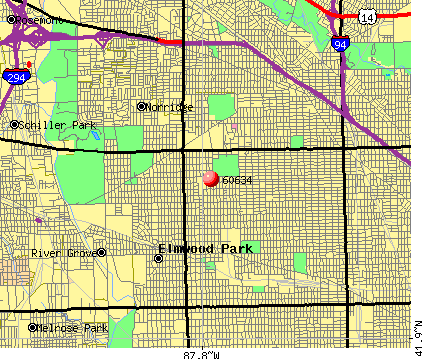 Chicago, IL (60634) map