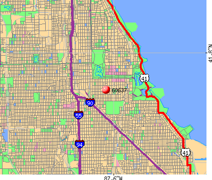 Chicago, IL (60637) map