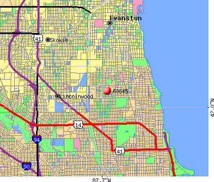 Chicago, IL (60645) map