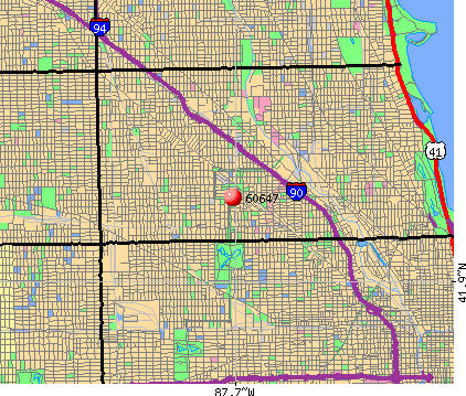 Chicago, IL (60647) map
