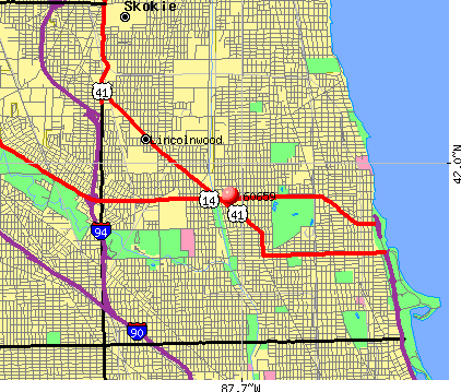Chicago, IL (60659) map
