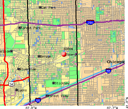Cicero, IL (60804) map