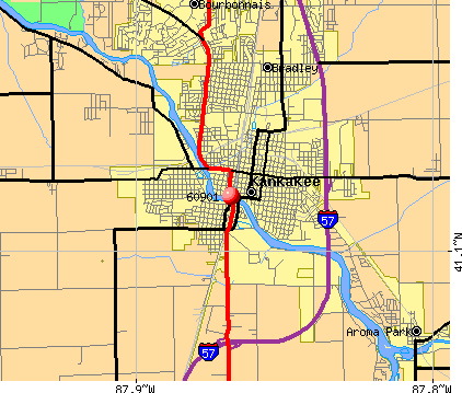 Kankakee, IL (60901) map