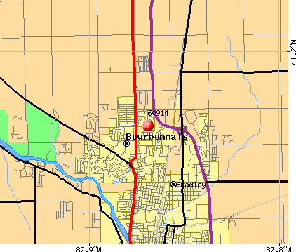 Bourbonnais, IL (60914) map