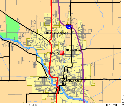 Bradley, IL (60915) map