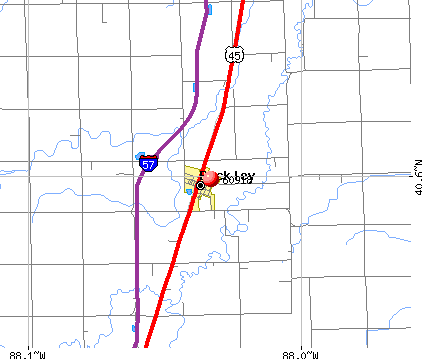 Buckley, IL (60918) map