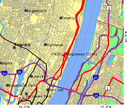Englewood Cliffs, NJ (07632) map
